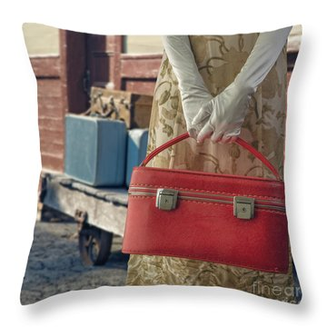 Waiting For A Train Throw Pillow by Edward Fielding