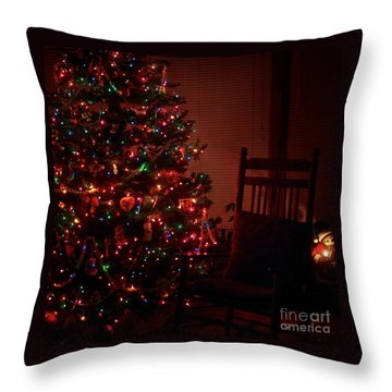 Waiting For Christmas - Square Throw Pillow
