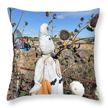 Throw Pillow featuring the photograph Waiting For Darkness by Minnie Lippiatt