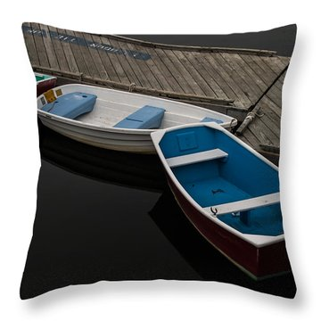 Throw Pillow featuring the photograph Waiting For Duty by Jeff Folger