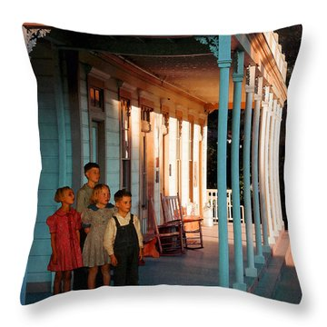 Waiting For Father Throw Pillow by Timothy Bulone