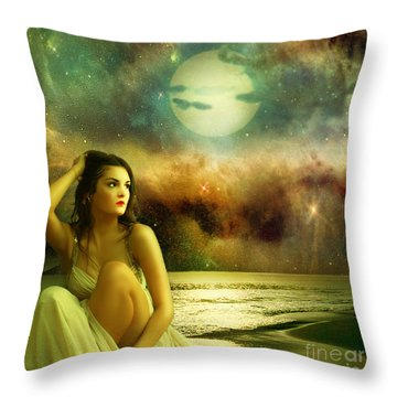 Waiting For Her Beloved Throw Pillow by Ester  Rogers