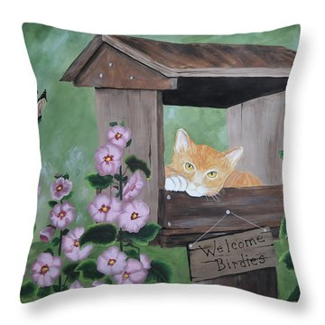 Waiting For Lunch Throw Pillow by Kenny Francis