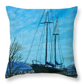 Waiting For Springtime. Throw Pillow