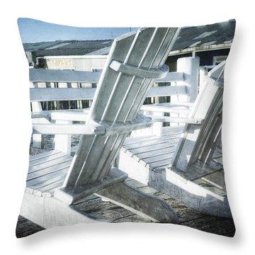 Waiting For Summer Throw Pillow by Joan Carroll
