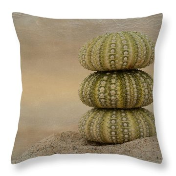 Waiting For Sunset Throw Pillow by Fraida Gutovich