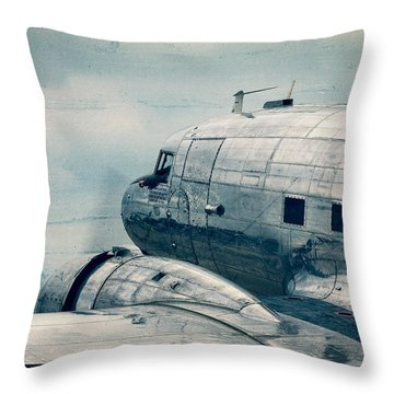 Waiting For Take Off Throw Pillow by Steven Bateson
