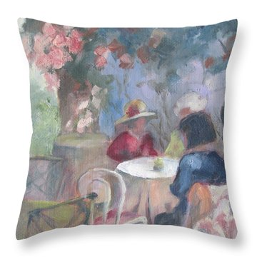 Waiting For Tea Throw Pillow by Susan Richardson