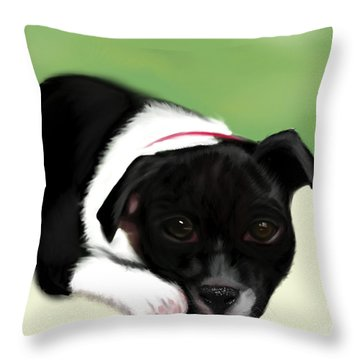 Waiting For The Family  Throw Pillow