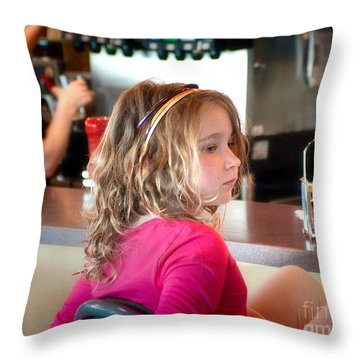 Waiting For The Grown-ups Throw Pillow by Sandi Mikuse