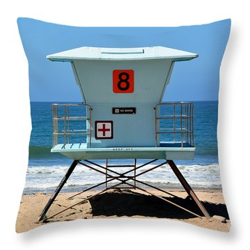 Waiting For The Lifeguard Throw Pillow