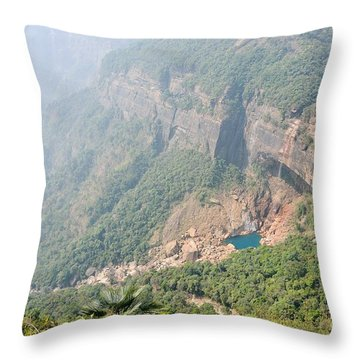 Waiting For The Monsoons Throw Pillow by Fotosas Photography