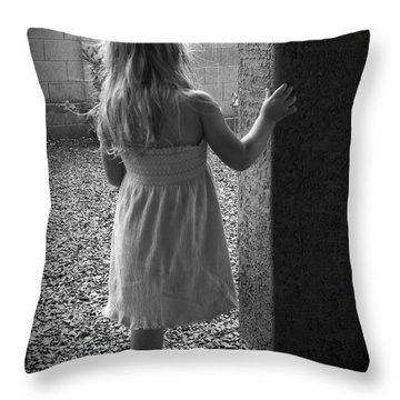 Throw Pillow featuring the photograph Waiting For The Rain To End  by Lucinda Walter