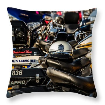 Throw Pillow featuring the photograph Waiting For The Rider by Eleanor Abramson