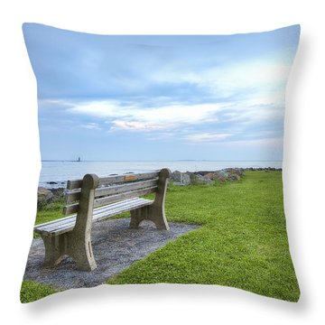 Waiting For The Supermoon Throw Pillow by Eric Gendron
