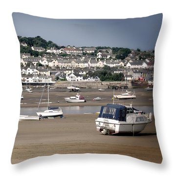 Waiting For The Tide Throw Pillow by Pennie  McCracken