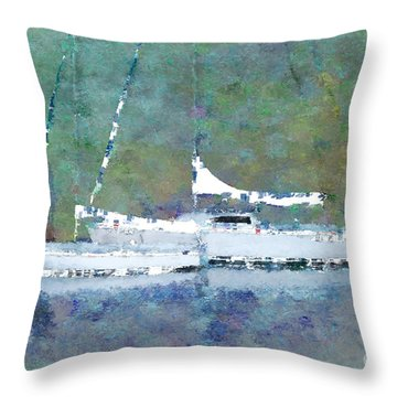 Waiting For The Wind Throw Pillow by Betty LaRue