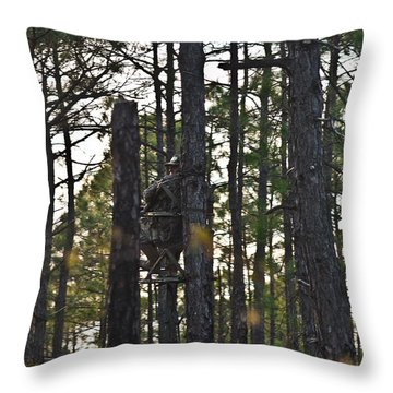 Waiting Game Throw Pillow by Jessica Brown