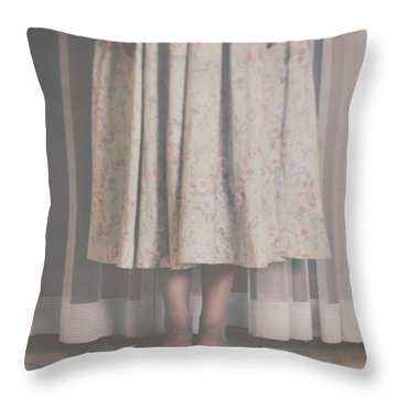 Waiting Ghost Throw Pillow by Joana Kruse