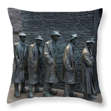 Waiting In Line Throw Pillow