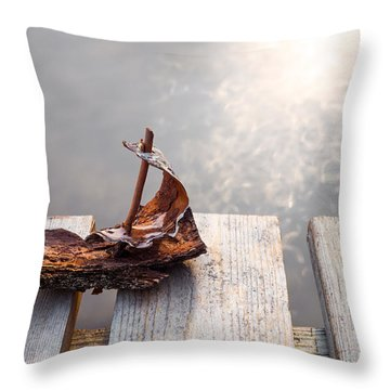 Waiting Throw Pillow by Janne Mankinen