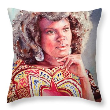 Afro Beauty Throw Pillow