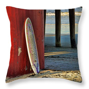 Waiting Throw Pillow by Kenny Francis