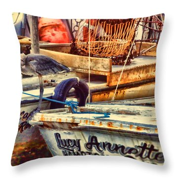 Throw Pillow featuring the photograph Waiting On Miss Lucy by Ola Allen