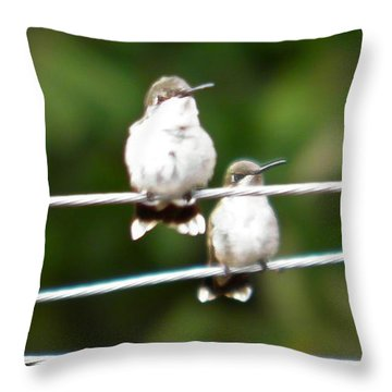 Throw Pillow featuring the photograph Waiting Our Turn by Nick Kirby