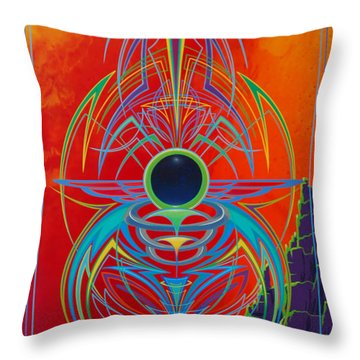 Waiting Over Sedona Throw Pillow