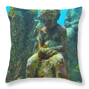 Waiting Patiently For The Coral To Grow Up Throw Pillow by Halifax photographer John Malone