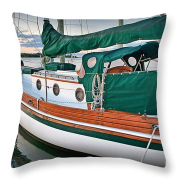 Waiting Throw Pillow by Phil Mancuso