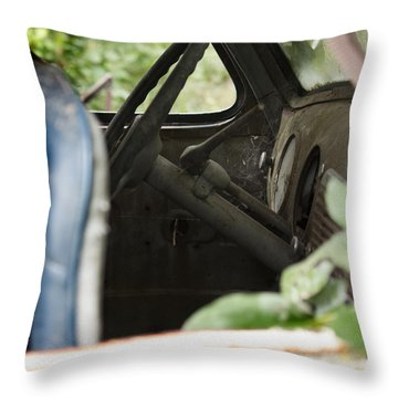 Throw Pillow featuring the photograph Waiting by Rebecca Davis