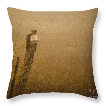 Waiting Throw Pillow by Steven Reed