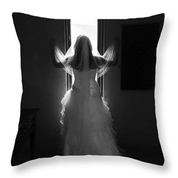 Throw Pillow featuring the photograph Waiting To Be Married by Taschja Hattingh