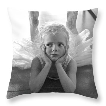 Waiting To Begin Throw Pillow by Suzanne Oesterling