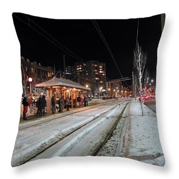 Waiting To Go Home Throw Pillow by Barbara McDevitt