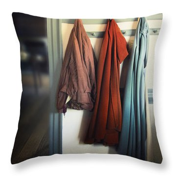 Waiting To Go Out Throw Pillow by Margie Hurwich