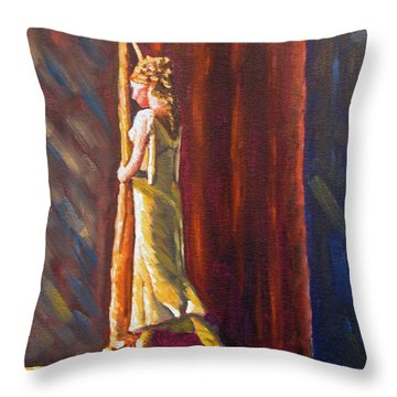 Waiting To Perform Throw Pillow