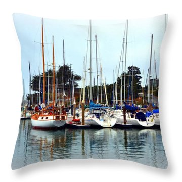 Waiting To Sail Santa Cruz Throw Pillow