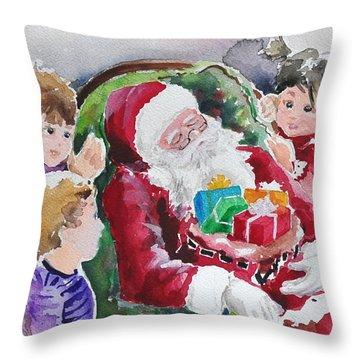 Waiting Up For Santa2 Throw Pillow