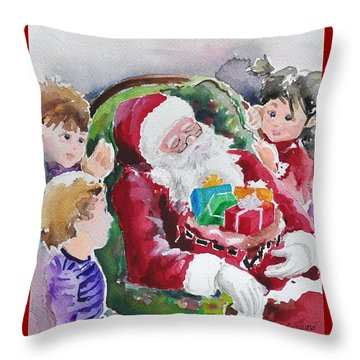 Waiting Up For Santa2 Throw Pillow