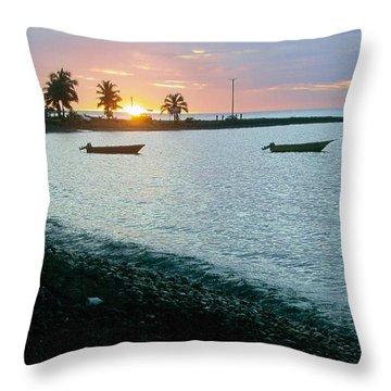 Waitukubuli Sunset Throw Pillow