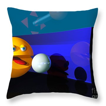 Throw Pillow featuring the digital art Waka Waka Waka by Tony Cooper