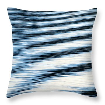 Throw Pillow featuring the photograph Wake by Ramona Johnston