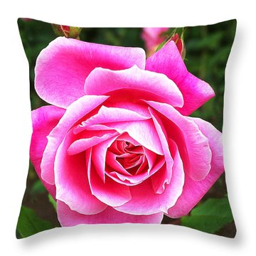 Wake Up And Smell The Roses Throw Pillow