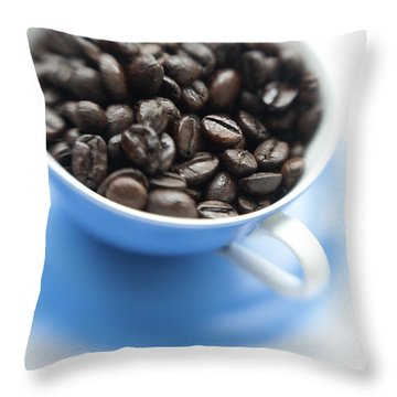 Wake-up Cup Throw Pillow by Priska Wettstein