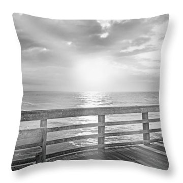 Waking Coast Throw Pillow by Betsy Knapp