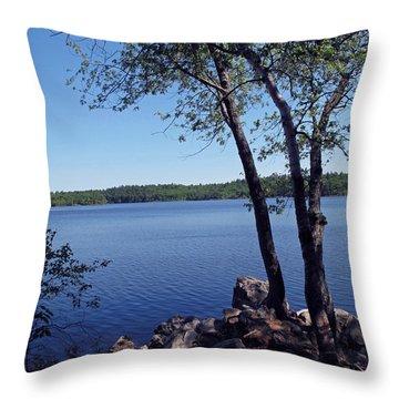 Walden Pond Saugus Ma Throw Pillow by Barbara McDevitt