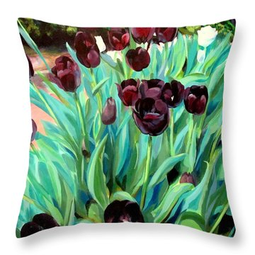 Walk Among The Tulips Throw Pillow